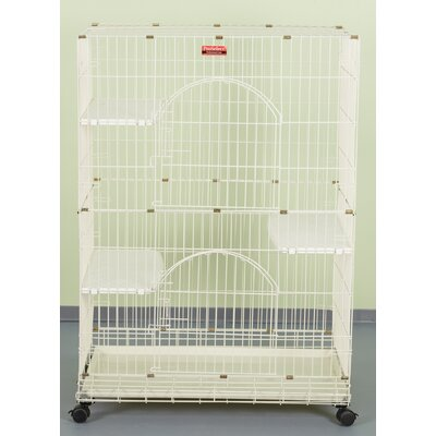 Foldable Cat Crate Color: Ivory