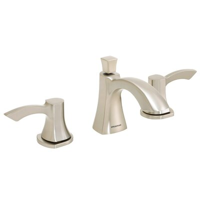 Tiber Double Handle Widespread Bathroom Faucet Finish: Brushed Nickel