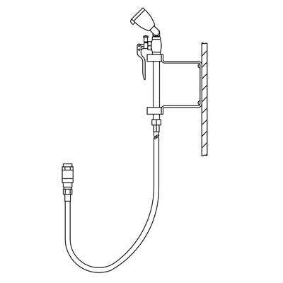 Eyesaver Faucet Eyewash / Drench Hose Attachment for Utility Sinks
