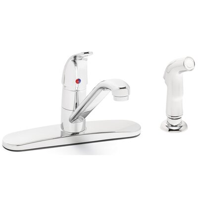 Single Lever Kitchen Faucet with Hose and Spray Attachment