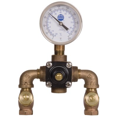 Speakman Single Element Thermostatic Mixing Valve with Check Valves, Ball Valves and Surface Mounted Enamel Coated Cabinet at Sears.com
