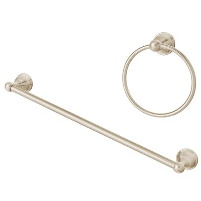 Alexandria Bath Add-on Accessory Set Finish: Brushed Nickel