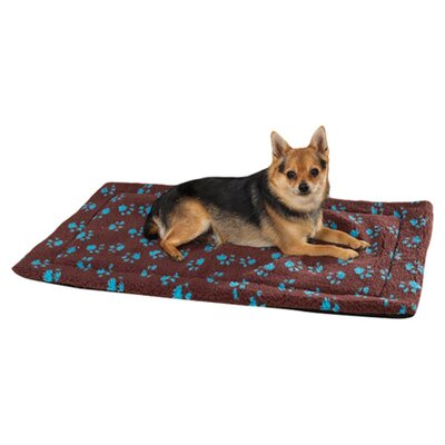 "Dog Crate Dog Mat Size: Extra Small (17.75"" L x 11.75"" W), Color: Chocolate"