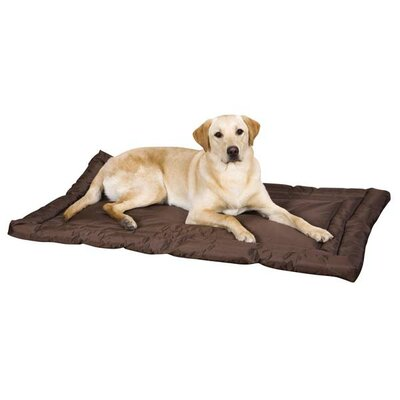 "Water Resistant Dog Mat Size: Small (24"" L x 17"" W), Color: Green"