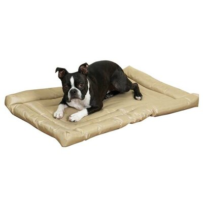 "Water Resistant Dog Mat Size: Large (42"" L x 28"" W), Color: Tan"