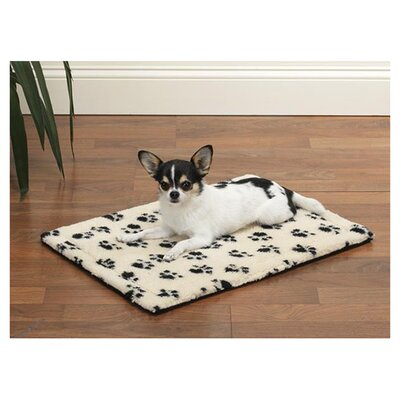 Dog Crate Dog Mat Size: Medium / Large (35.75 L x 22.75 W), Color: Ivory