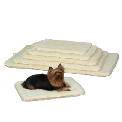 Double Sided Sherpa Crate Dog Mat Size: Small (23.75 L x 16.75 W)
