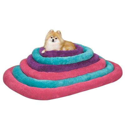 "Bright Terry Dog Crate Donut Dog Bed Color: Purple, Size: Medium (29.75"" L x 18.75"" W) ZW5144 29 79"