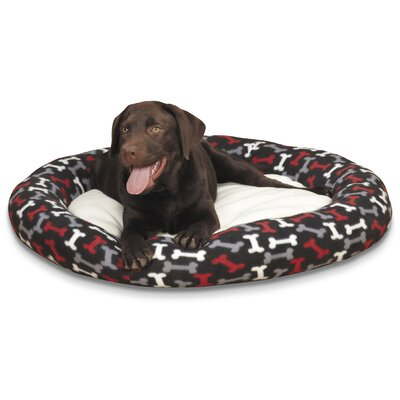 Medium Fleece Donut Bed Color: Black