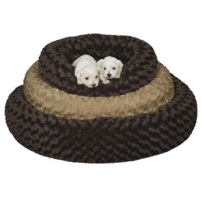 Swirl Plush Donut Bed Size: Medium