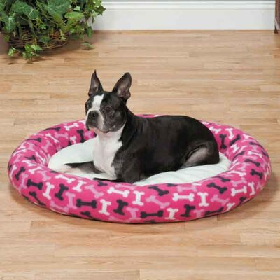 Small Fleece Donut Bed Color: Pink