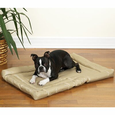 "Water Resistant Dog Mat Size: Medium (30"" L x 19"" W), Color: Tan"