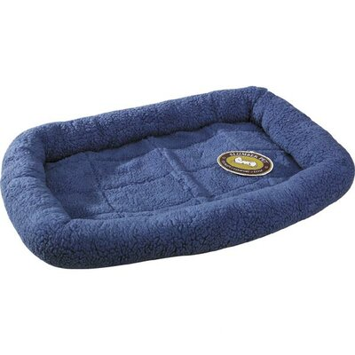 "Sherpa Dog Crate Dog Mat Size: Medium / Large (35.75"" L x 22.75"" W), Color: Slate Blue"