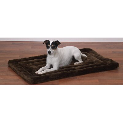 "Plush Dog Mat Size: Medium / Large (26"" L x 17"" W), Color: Chocolate"