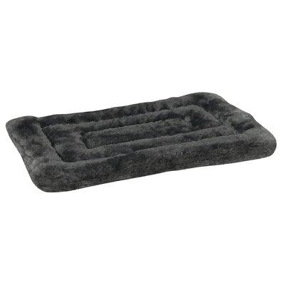 Plush Dog Mat Size: Small (18 L x 13 W), Color: Gray