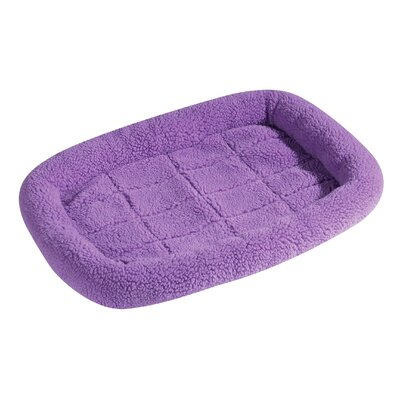 Sherpa Dog Crate Dog Mat Size: Small (23.75 L x 16.75 W), Color: Lavender