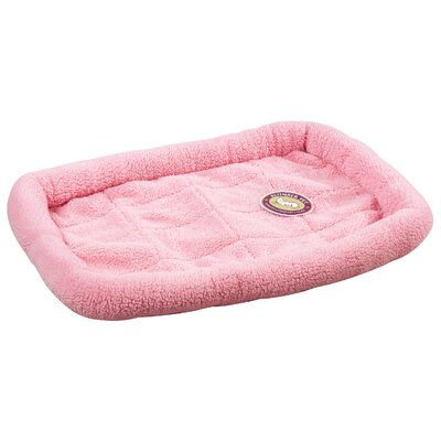 Sherpa Dog Crate Dog Mat Size: Medium (29.75 L x 18.75 W), Color: Baby Pink