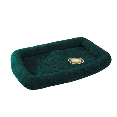 Sherpa Dog Crate Dog Mat Size: Medium (29.75 L x 18.75 W), Color: Forest Green