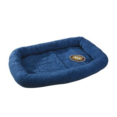 Sherpa Dog Crate Dog Mat Size: Medium (29.75 L x 18.75 W), Color: Sky Blue