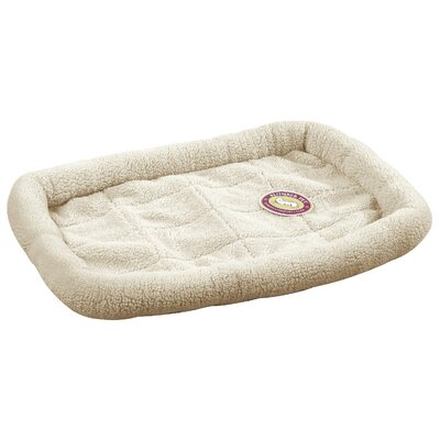 Sherpa Dog Crate Dog Mat Size: Extra Small (17.75 L x 11.75 W), Color: Natural Beige