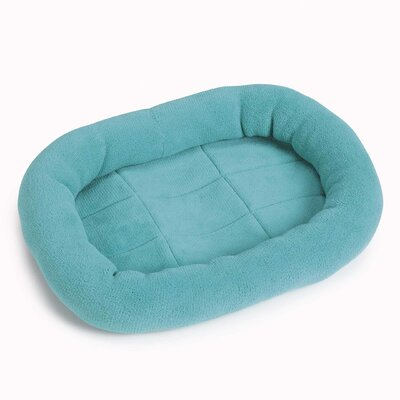 "Bright Terry Dog Crate Donut Dog Bed Color: Turquoise, Size: Medium / Large (35.75"" L x 22.75"" W)"
