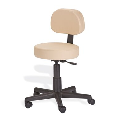 Mid-Back Height Adjustable Rolling Drafting Chair Finish: Maries Beige