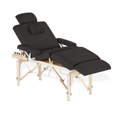 Calistoga Portable Salon Table Color: Black