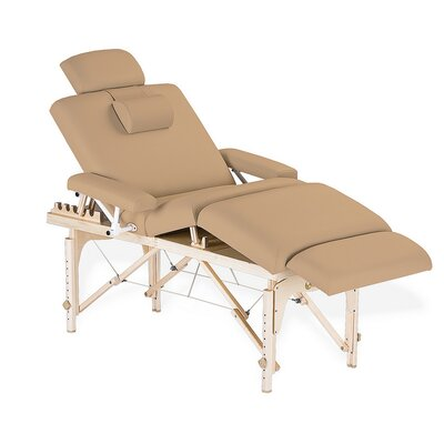 Calistoga Portable Salon Table Color: Maries Beige