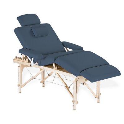Calistoga Portable Salon Table Color: Mystic Blue