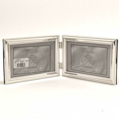 Beading Hinged Double Horizontal Picture Frame