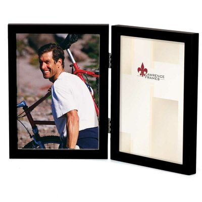 Contemporary Gallery Hinged Double Wood Picture Frame