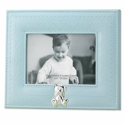 Faux Leather Picture Frame Color: Blue 885164
