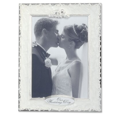 Pearl Roses Our Wedding Picture Frame