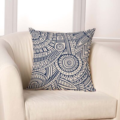 Mayan Geometric Throw Pillow
