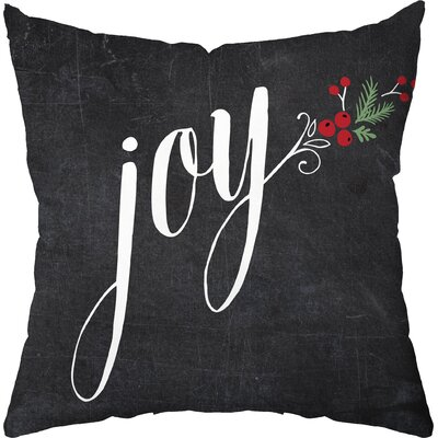 Joyous Holiday Throw Pillow