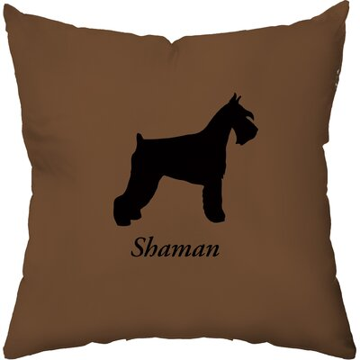 Personalized Schnauzer Throw Pillow Color: Taupe and Raspberry