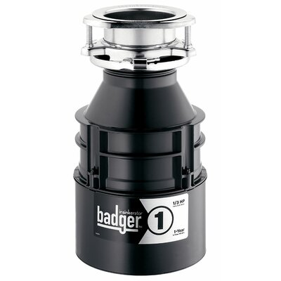 Badger 1/3 HP Continuous Feed Garbage Disposal Power Cord Included: No