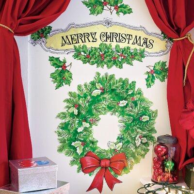 Merry Christmas Holiday Wall Decal
