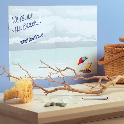 Wallies At The Beach Dry Erase - 2 Sheet Vinyl Peel and Stick at Sears.com