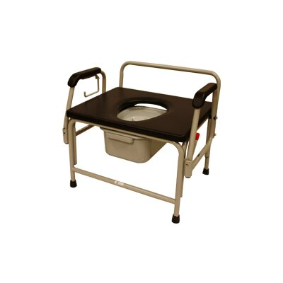 Bariatric Drop-Arm Round Commode