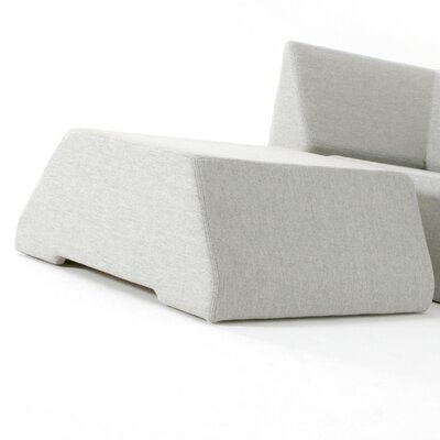 Divide Ottoman Upholstery: Interlude Graphite