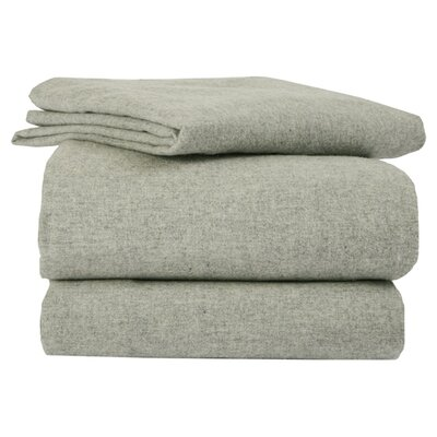 La Rochelle Heather Solid Flannel Sheet Set - Size: Full, Color: Sage at Sears.com