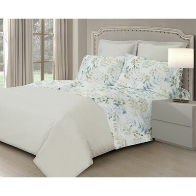 Edmund 400 Thread Count 100% Cotton Sheet Set Size: Full/Double