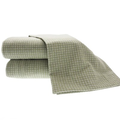 La Rochelle Heather Ground Flannel Gingham Cotton Sheet Set - Size: Twin, Color: Sage at Sears.com