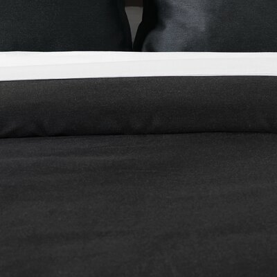Pierce Comforter Size: California King, Color: Onyx
