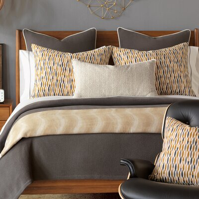 Truman Charcoal Coverlet Size: Queen