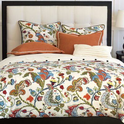Bayliss Duvet Set Size: Super Queen, Color: Brick