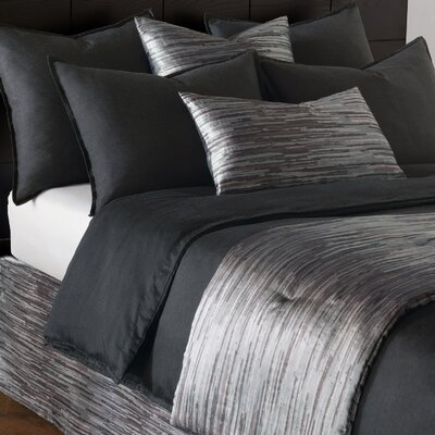 Pierce Duvet Size: King, Color: Onyx