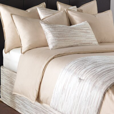 Pierce Duvet Size: Queen, Color: Sand