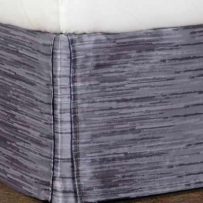 Pierce Horta Bed Skirt Color: Lilac, Size: Queen